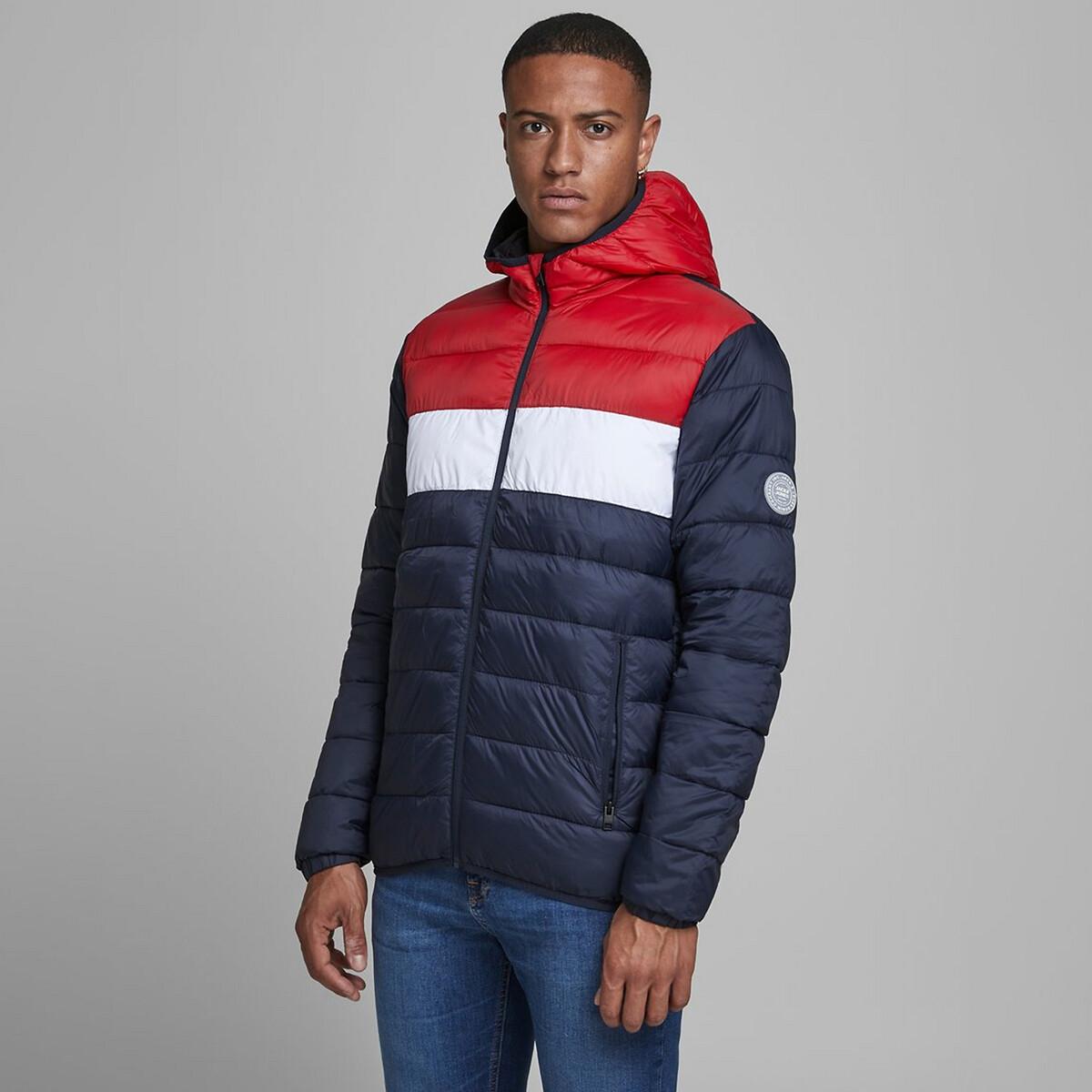 Куртка LaRedoute Стеганая легкая с капюшоном Magic S синий куртка la redoute стеганая на молнии с капюшоном idaho 2 3xl синий