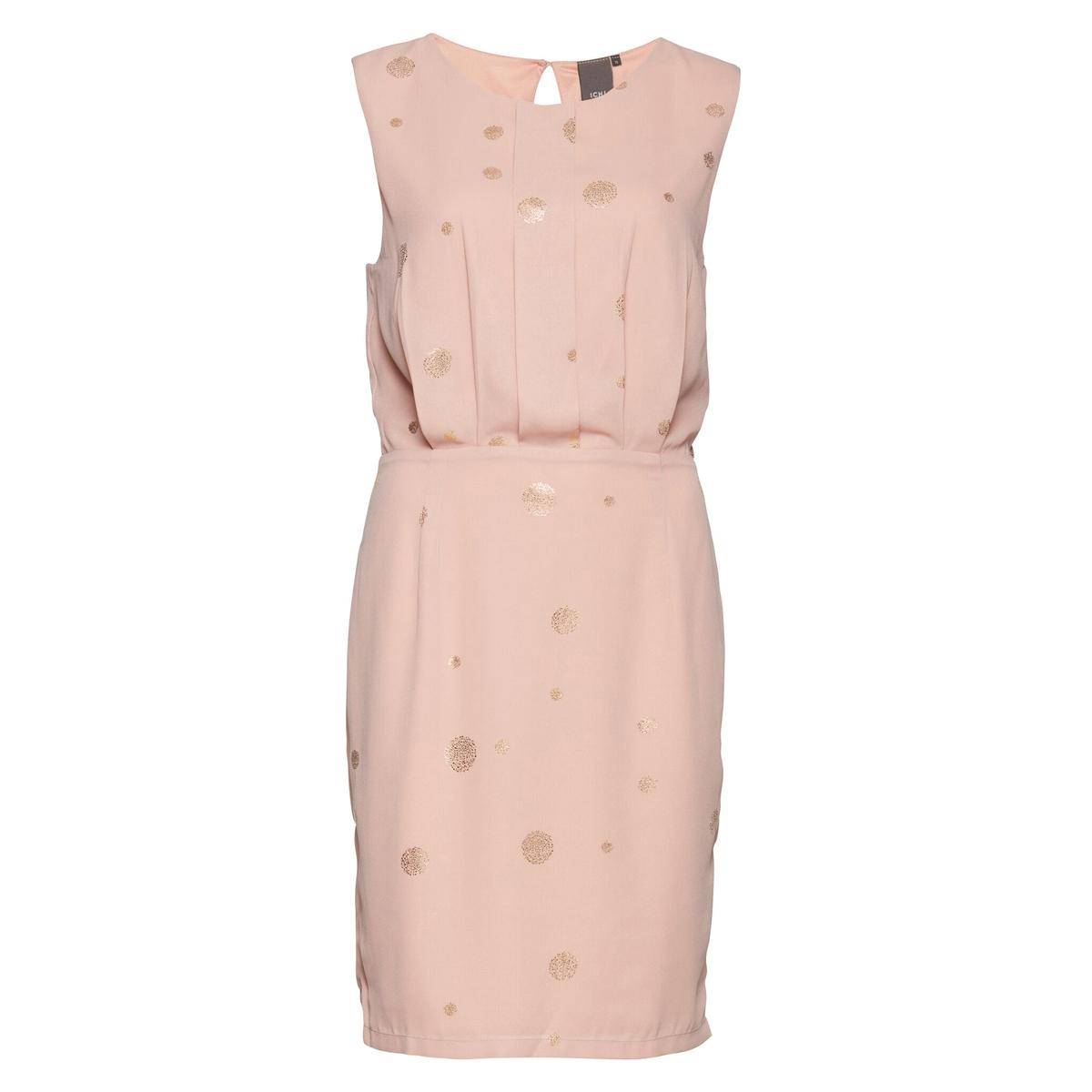 Платье плиссированное в горошек PLANETСостав и описаниеМарка: ICHI.Модель: PLANET.Материал: 100% полиэстер.<br><br>Цвет: розовый<br>Размер: 40 (FR) - 46 (RUS).38 (FR) - 44 (RUS)