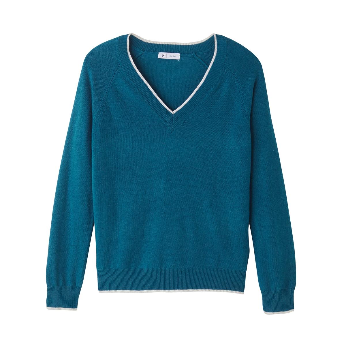 Пуловер шерстяной с контрастными краямиДетали •  Длинные рукава  •   V-образный вырез •  Тонкий трикотаж Состав и уход •  7% шерсти, 38% акрила, 55% полиамида •  Температура стирки 30° на деликатном режиме   •  Деликатный уход/ не отбеливать  •  Не использовать барабанную сушку   •  Низкая температура глажки<br><br>Цвет: кремовый,сине-зеленый,темно-бежевый,темно-синий<br>Размер: S.XL.XL.M.XXL.XXL.M.L.L.XXL.S.S.XL.L.M.XXL.M