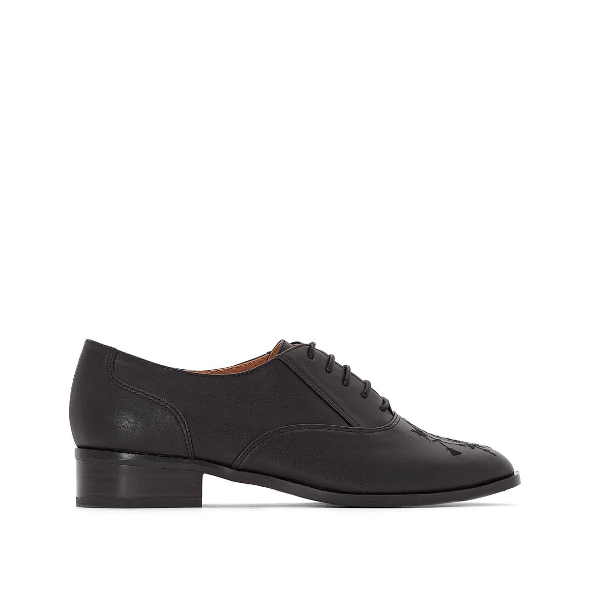 Ботинки-дерби с вышивкой