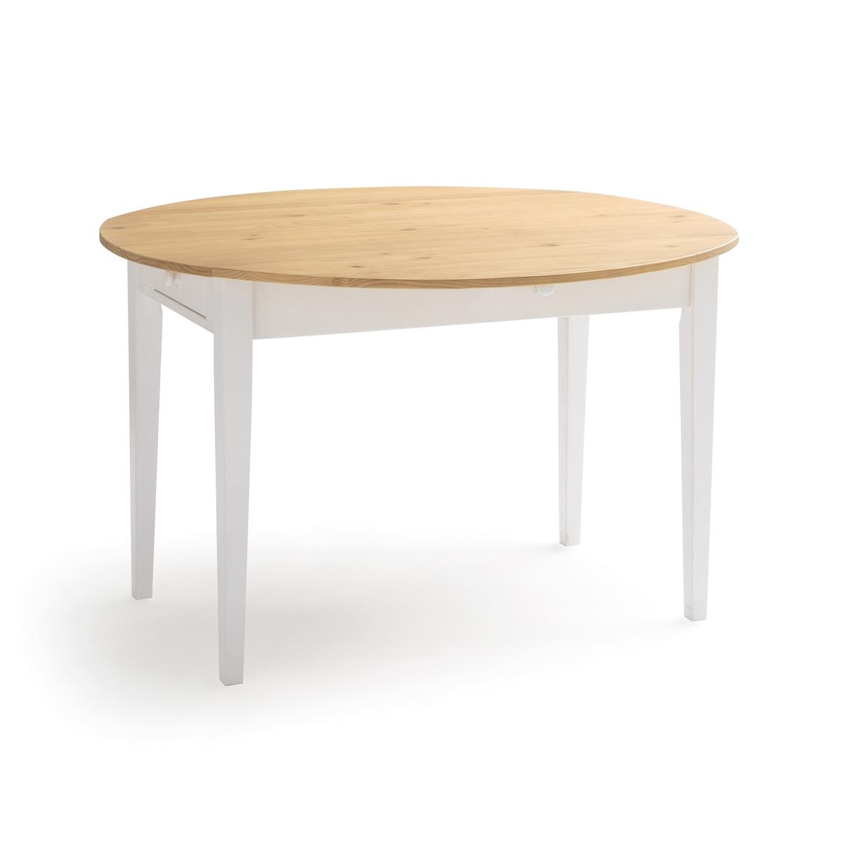 Стол LaRedoute Обеденный с 2 ящиками на 4-6 приборов Alvina 6 персоны белый стол laredoute обеденный 68 cперсон массив сосны alvina 8 персоны белый