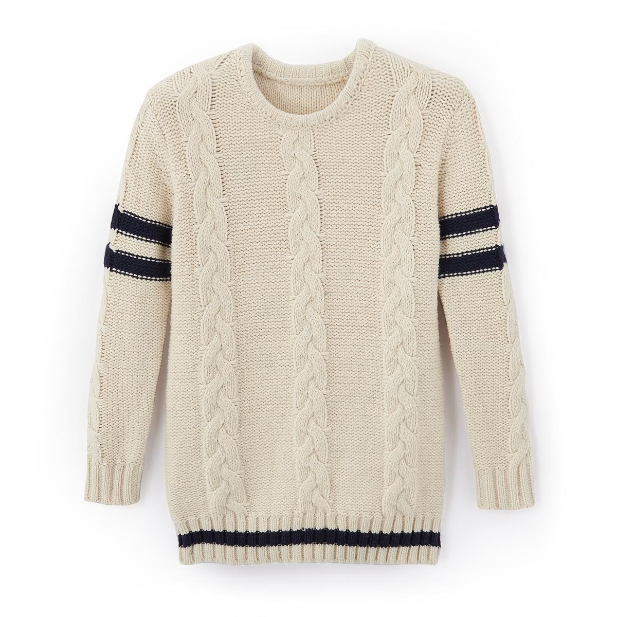 Пуловер из плетеного трикотажа 3-12 лет