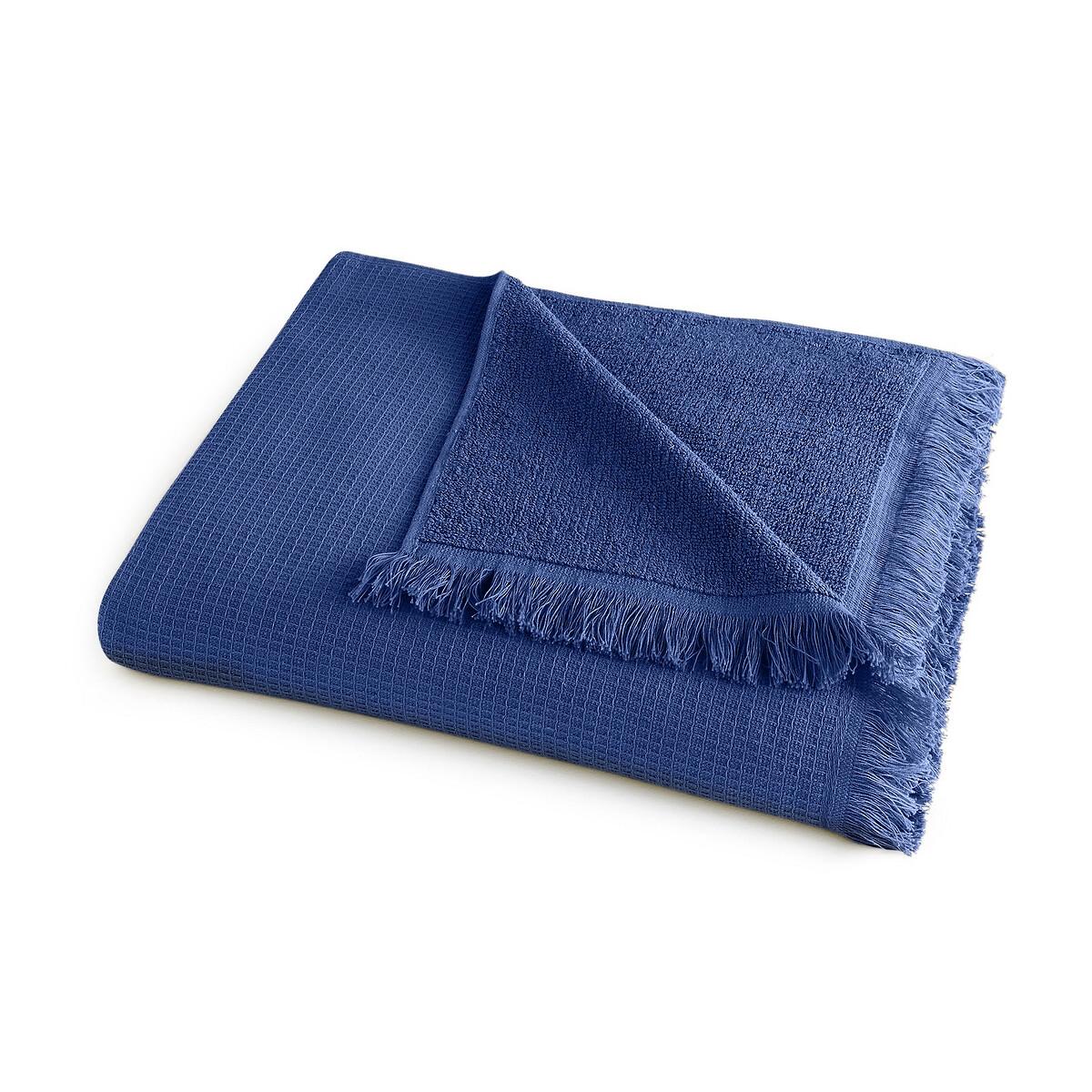 Полотенце La Redoute Банное из хлопка и льна Nipaly 70 x 140 см синий