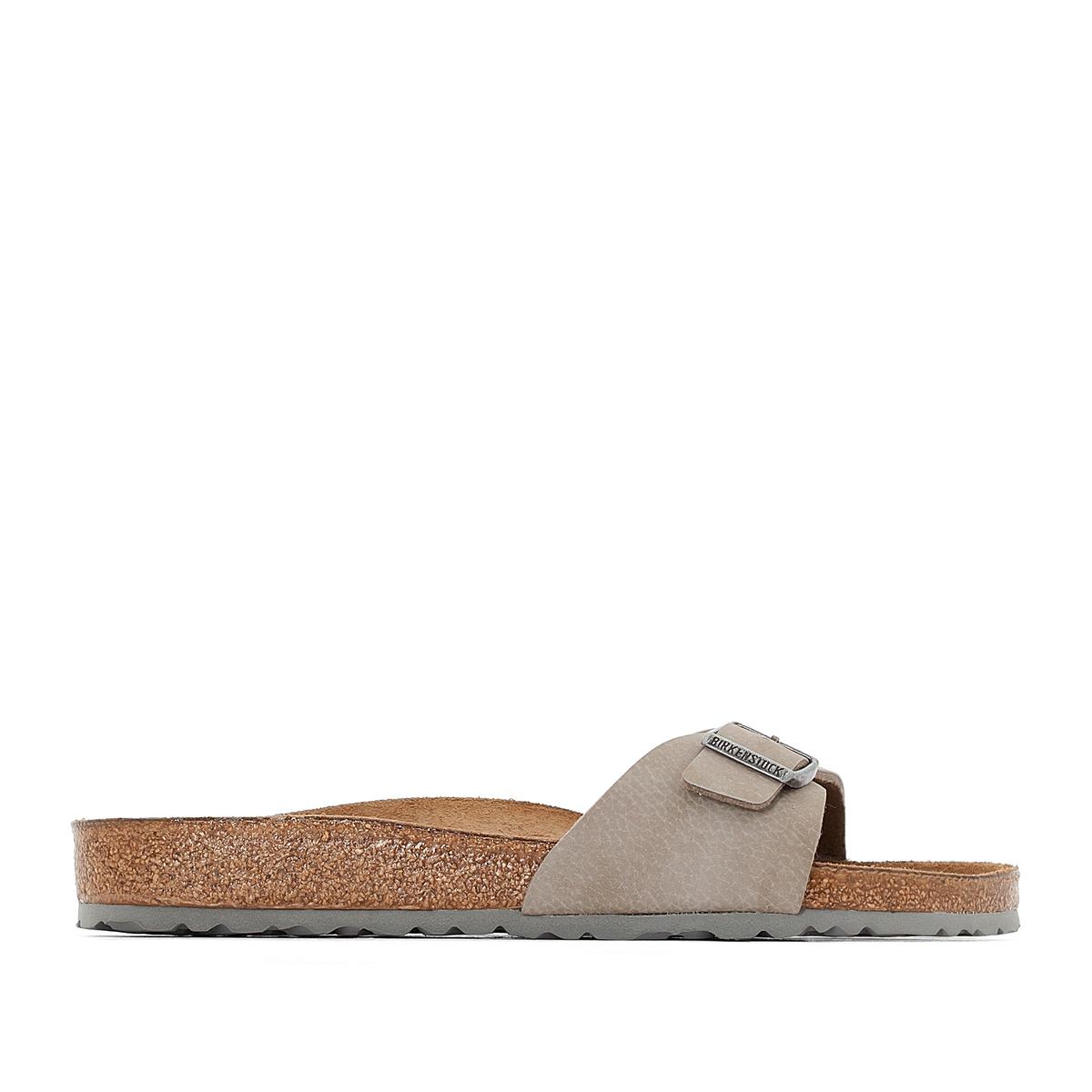 Туфли без задника синтетическиеДетали  •  Туфли без задника •  Застежка : без застежки •  Открытый мысок •  Гладкая отделкаСостав и уход  •  Верх 100% синтетический материал •  Подкладка 100% текстиль •  Стелька 100% кожа •  Подошва 100% ЭВА<br><br>Цвет: бежевый<br>Размер: 43