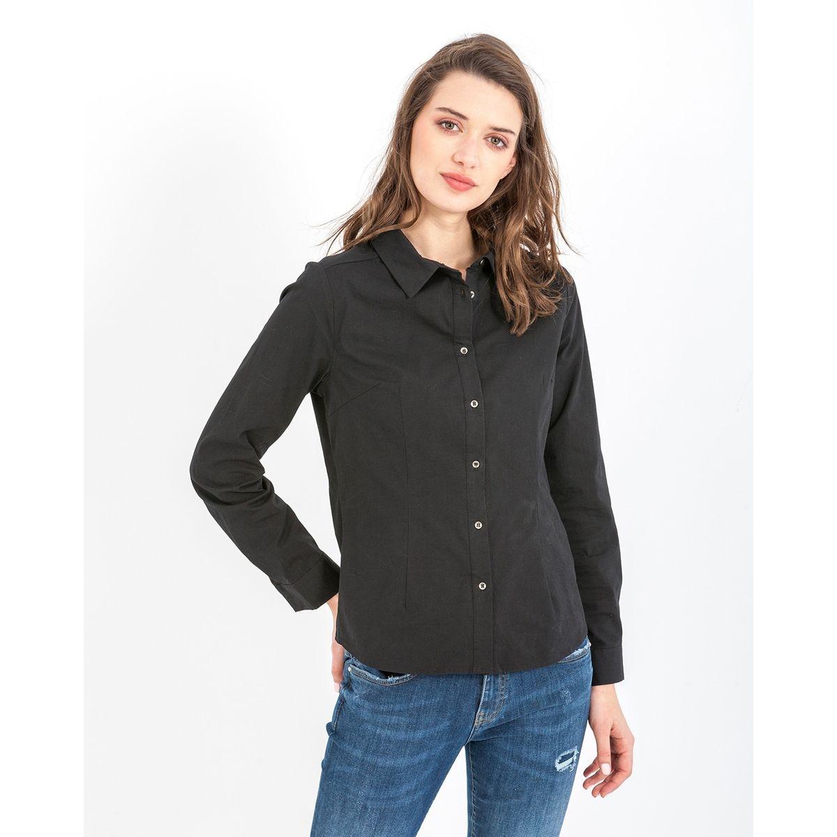 Chemise de coupe basique et manches longues