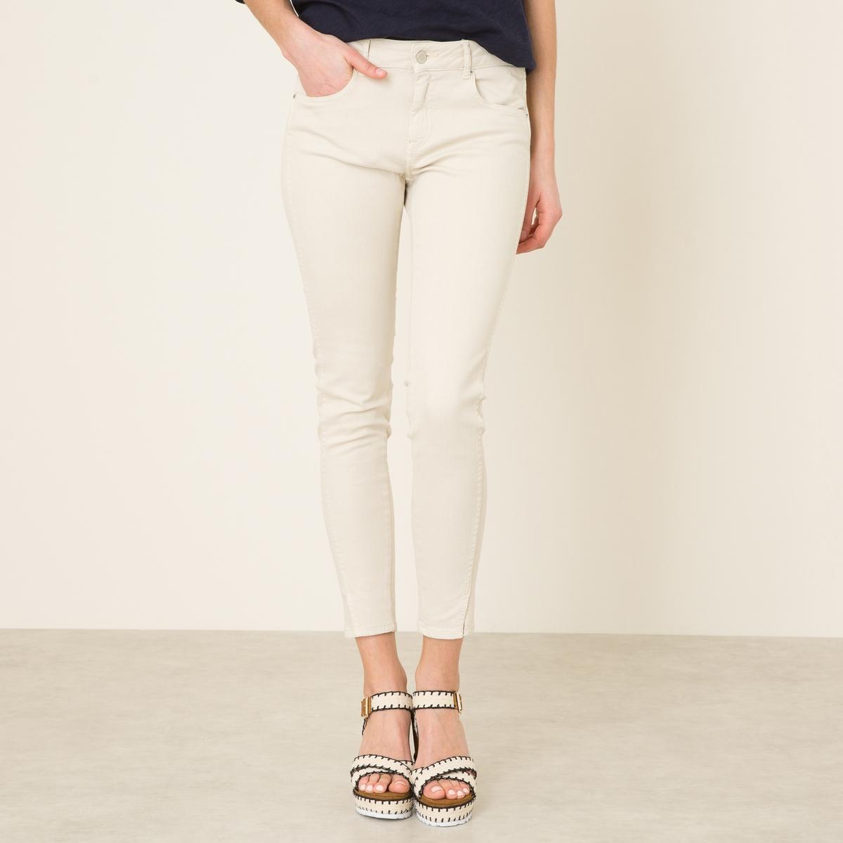 Джинсы скинни укороченные DAYTONA COLOR джинсы скинни 5 карманов длина 7 8 д 30