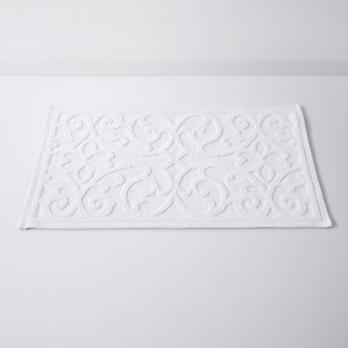 Коврик для ваннойс рельефным рисункомDAMASK, 100% хлопок (1500 г/м?)Характеристики:Материал: 100% хлопок (1500 г/м?).Противоскользящее покрытие с изнанки.Уход:Машинная стирка при 60°С.Размеры:50 x 70 см.<br><br>Цвет: белый,бледно-розовый,серо-синий<br>Размер: 50 x 80  см