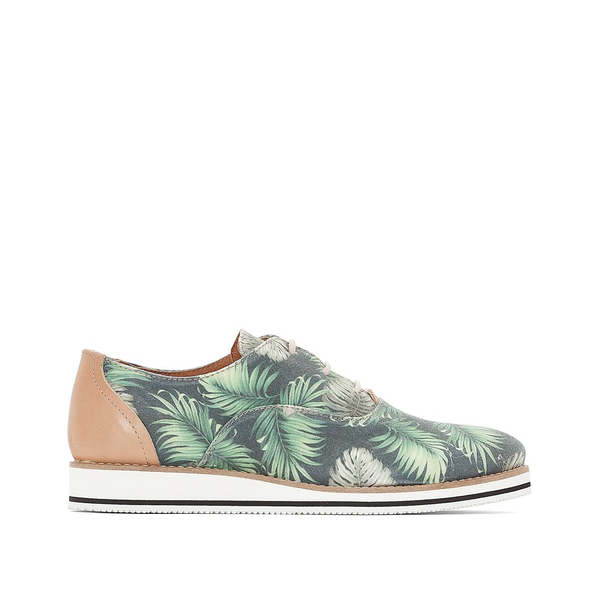 Ботинки-дерби тканевые ботинки дерби под кожу питона