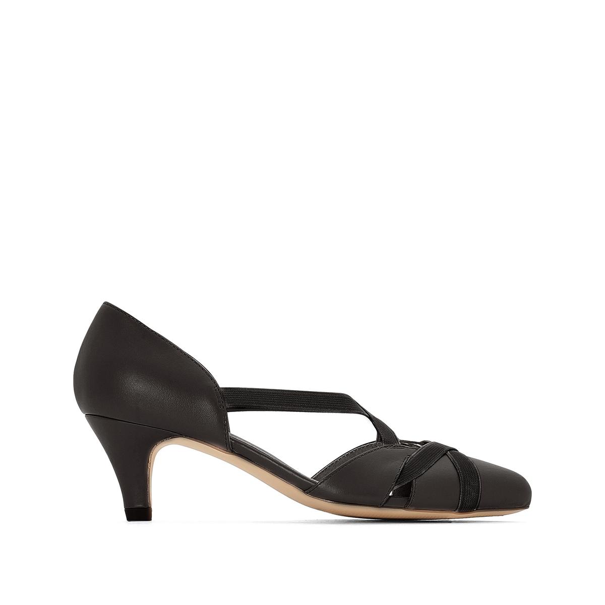цены на Туфли кожаные на среднем каблуке в интернет-магазинах