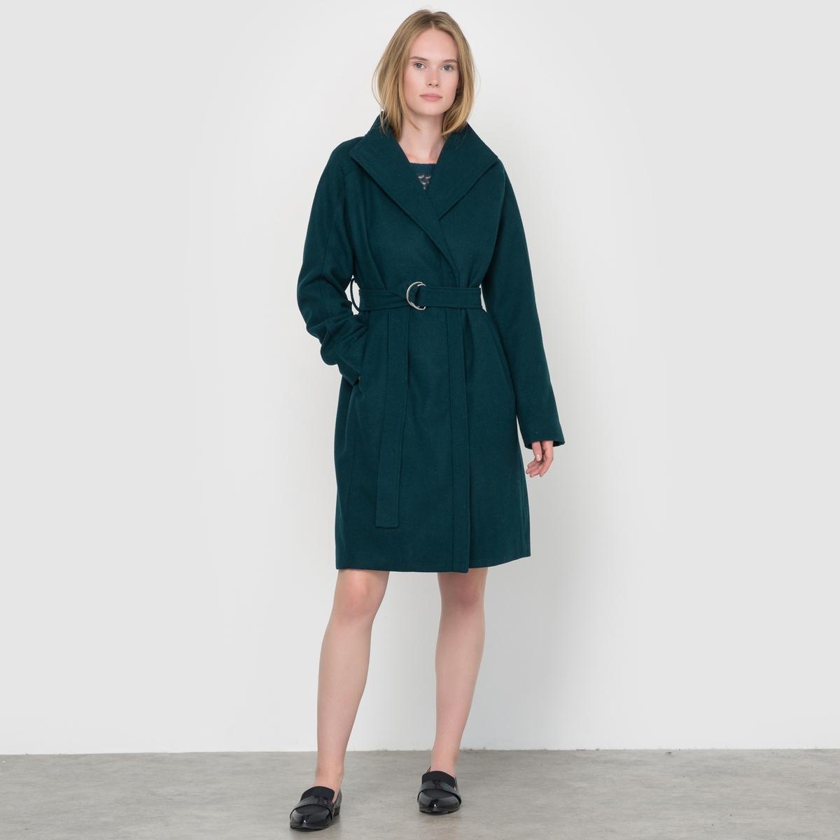 Пальто средней длины TerrisСостав и описаниеМатериал : 60% полиэстера, 40% шерсти.Марка : IchiМодель : TerrisУходСледуйте рекомендациям по уходу, указанным на ярлыке изделия<br><br>Цвет: зеленый лесной<br>Размер: M