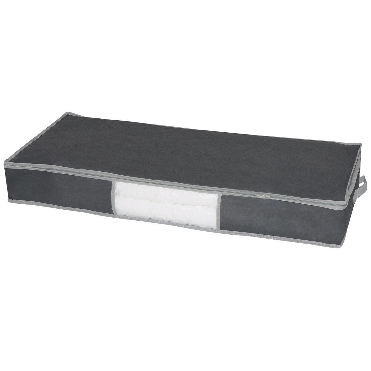 Contenitore di protezione tessuto non tessuto, per piumoni, speciale sotto il letto, color. grigio scuro