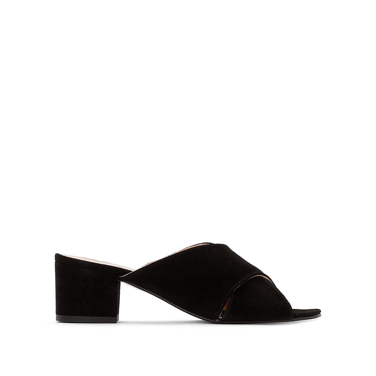 Туфли замшевые без задника на каблуке Franca цены онлайн