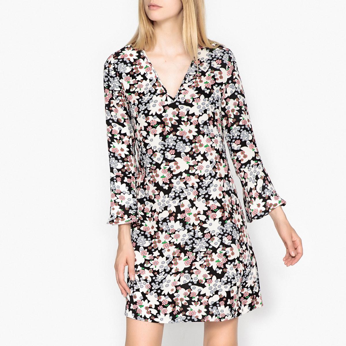 Платье мини с рисунком REIN платье с рисунком vestido conkerberry