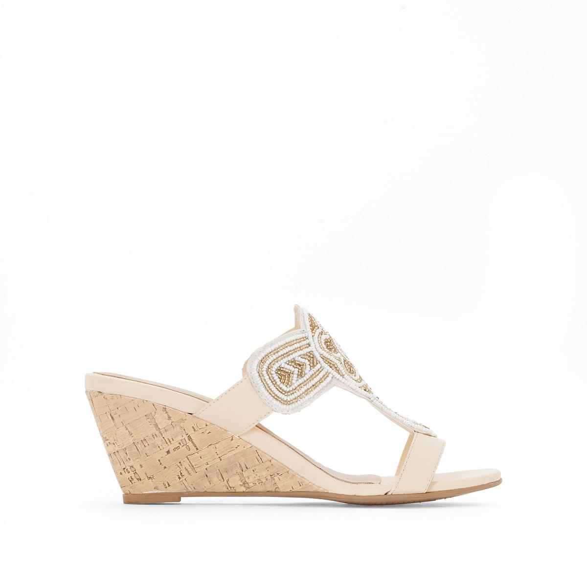 Туфли без задника кожаные вьетнамки кожаные