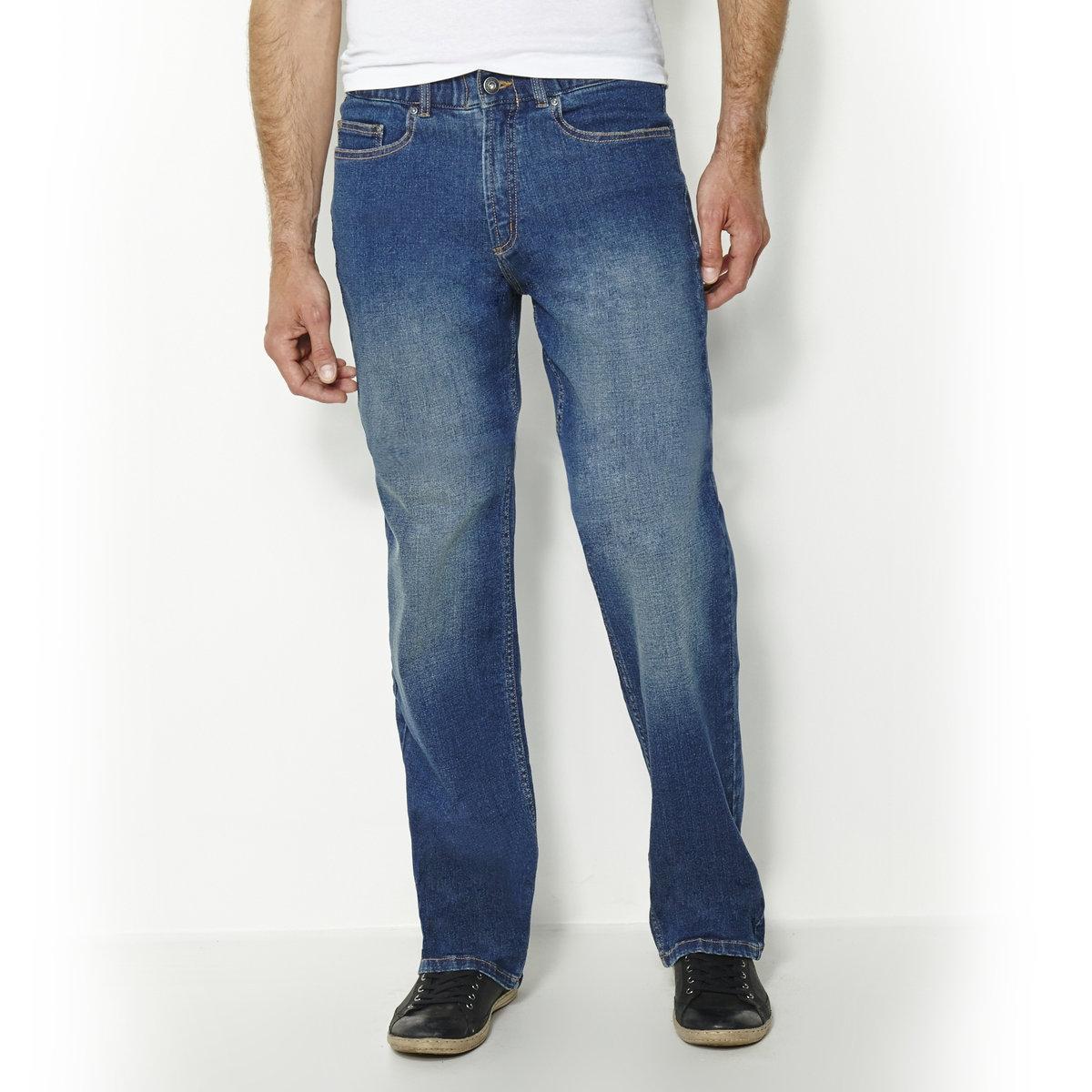 Джинсы комфортного покроя из денима стретч с эластичным поясом, длина 1 джинсы расклешенного покроя из денима стретч