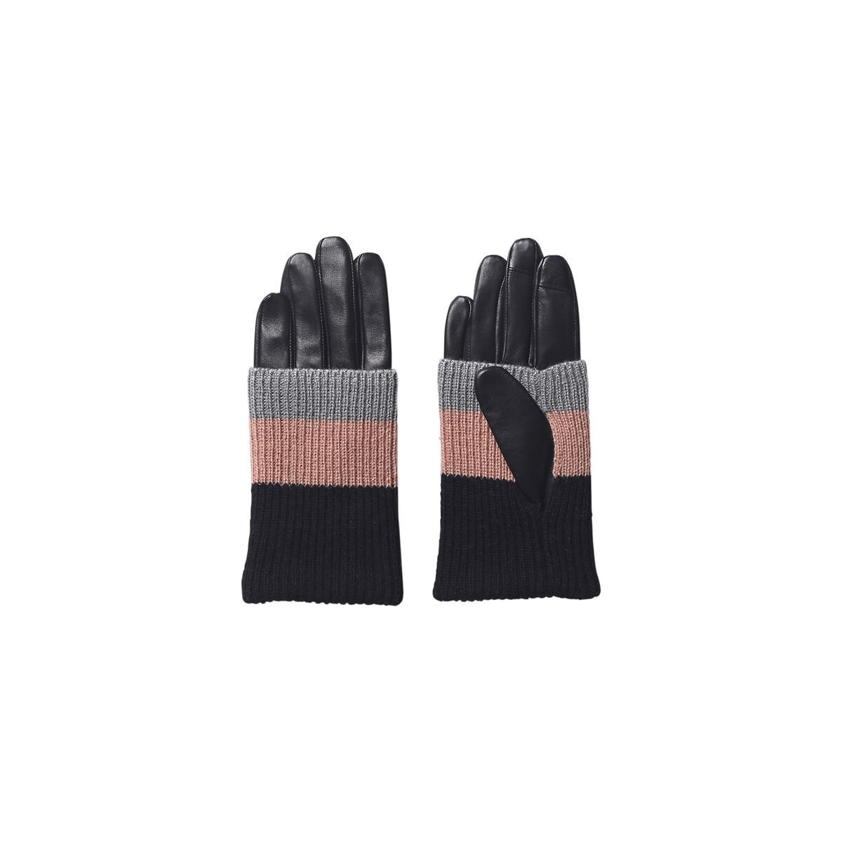 Перчатки LaRedoute Из кожи ягненка EZILI GLOVE 8 черный