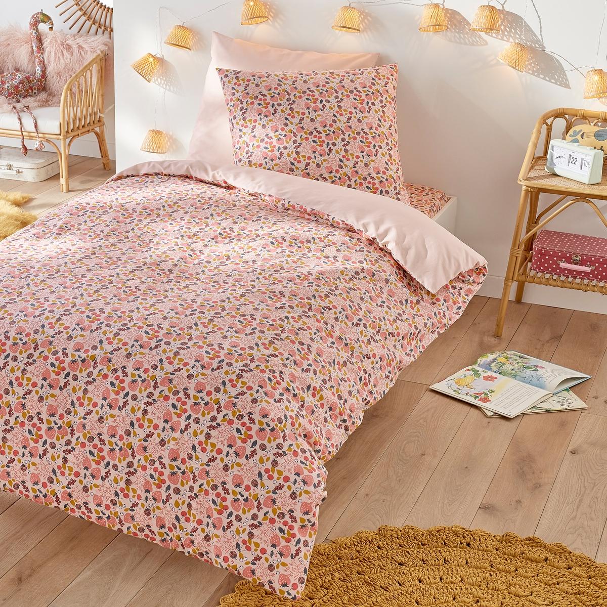 Пододеяльник LaRedoute Детский FRAISE 140 x 200 см розовый