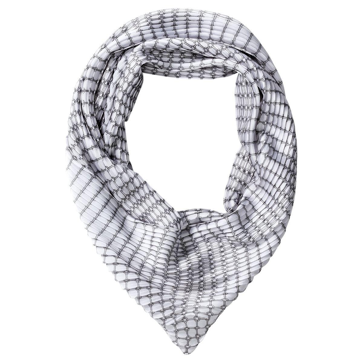 Foulard plissé à imprimé graphique