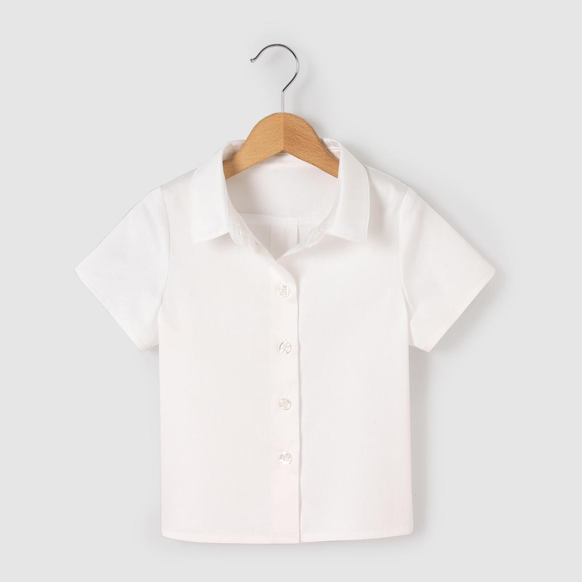 Рубашка с короткими рукавами для 3-12 летРубашка с короткими рукавами . 97 % хлопка, 3% эластана. На пуговицах спереди . Рубашечный воротник .<br><br>Цвет: набивной рисунок<br>Размер: 4 года - 102 см