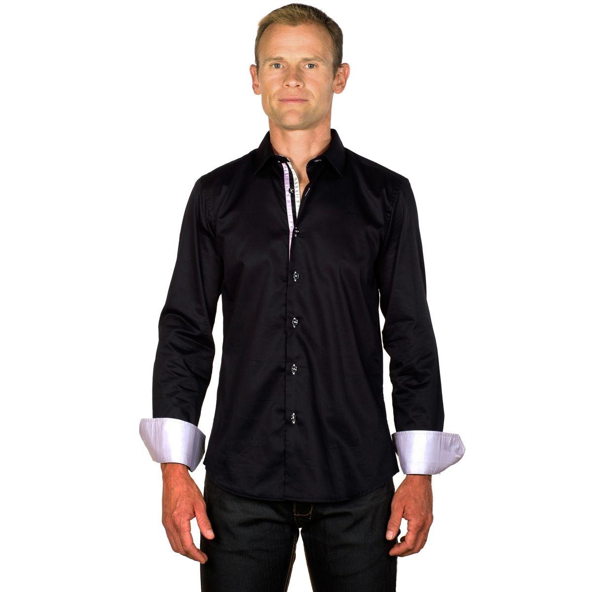 Chemise coton easy iron bicolore homme