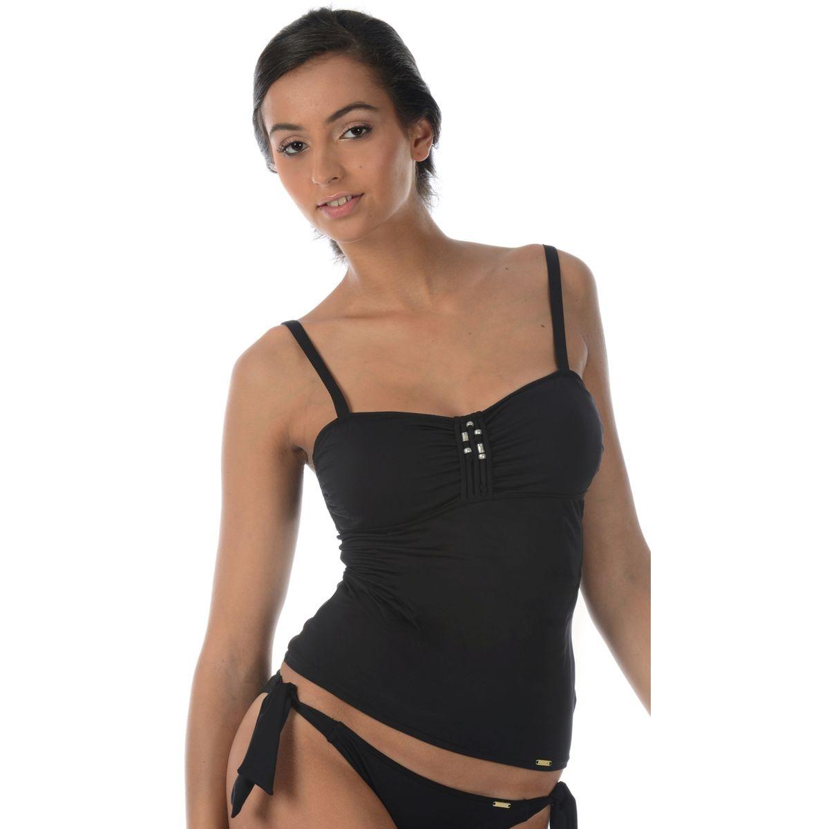 Haut de maillot de bain uni tankini DILCIA LAVANDOU. LIVIA 92360e788603