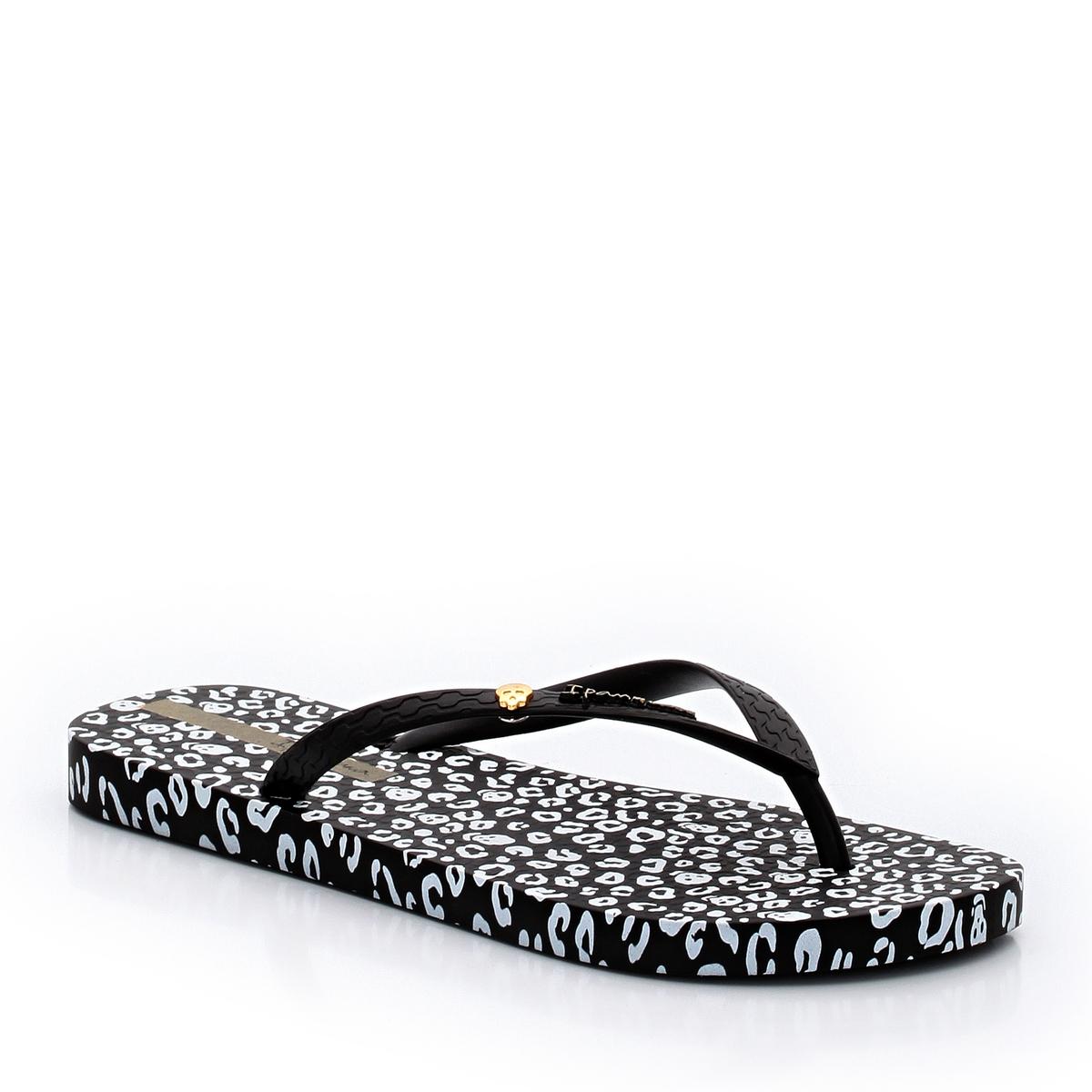 Вьетнамки ANIMAL PRINTПодошва : Синтетический материал     Форма каблука : плоский     Мысок : Открытый.     Застежка : без застежки<br><br>Цвет: черный/ белый
