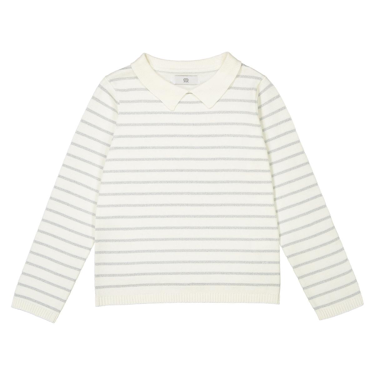Пуловер в блестящую полоску 3-12 лет