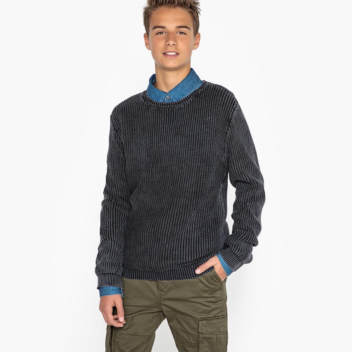 Пуловер с круглым вырезом из тонкого трикотажа 10 - 16 лет