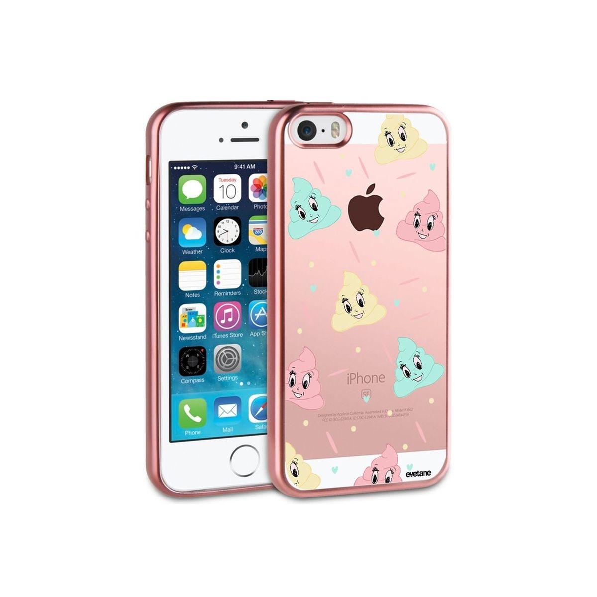 Coque iPhone 5/5S/SE bumper rose gold, Crottes, Evetane®
