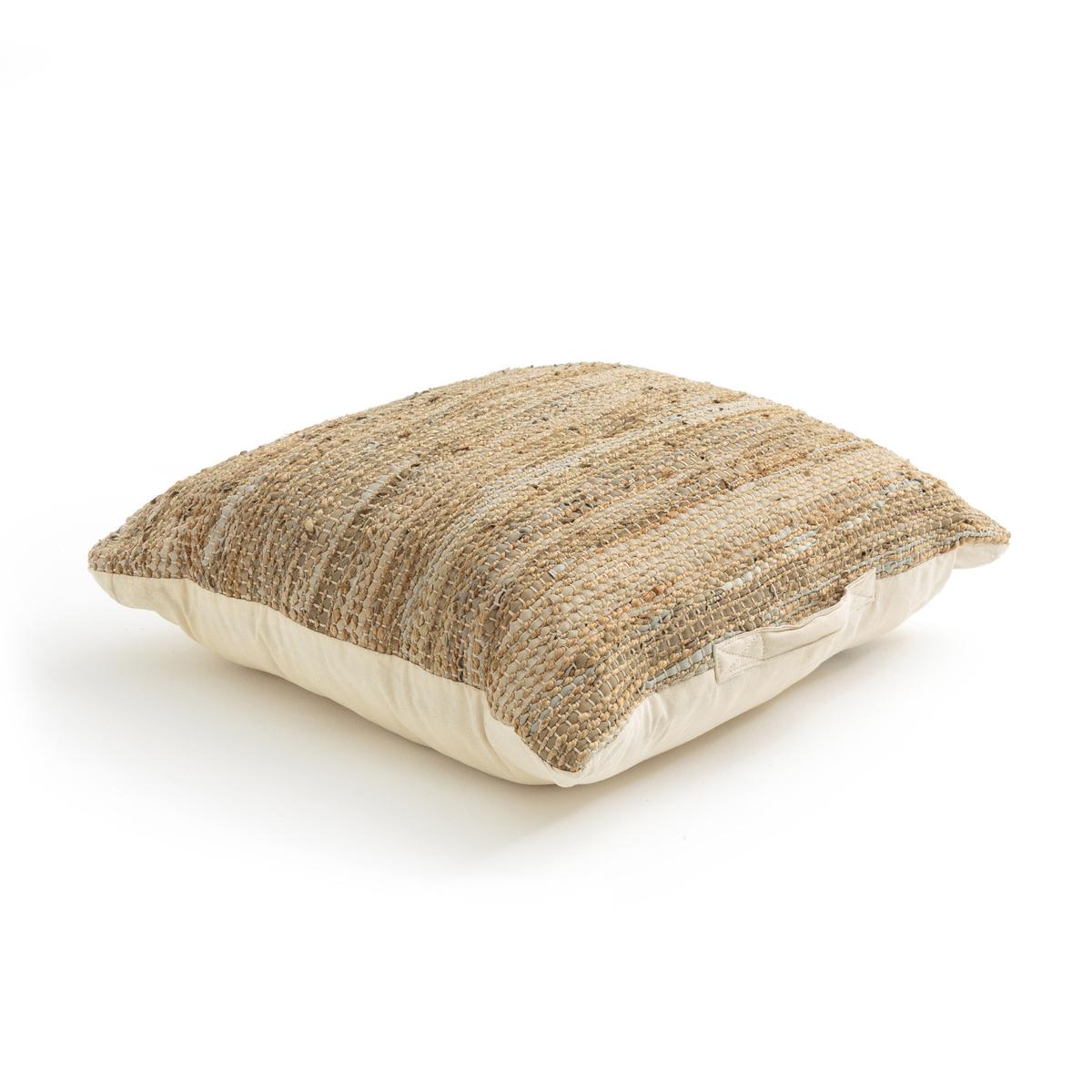 цена на Подушка La Redoute Напольная Bhima единый размер бежевый