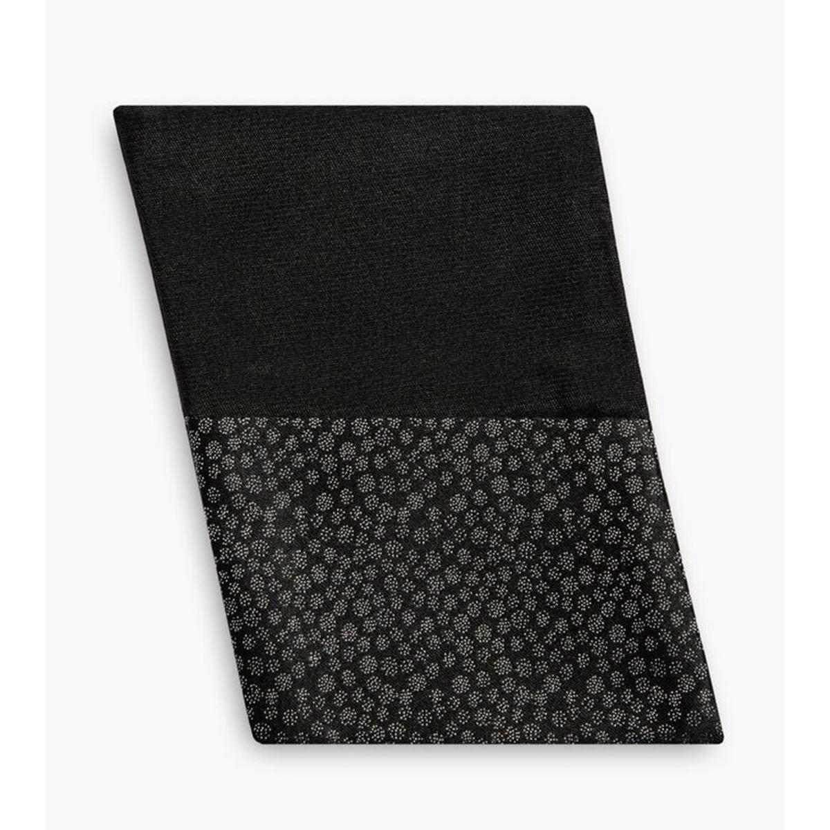 Pochette de costume en pure soie réversible / flocons