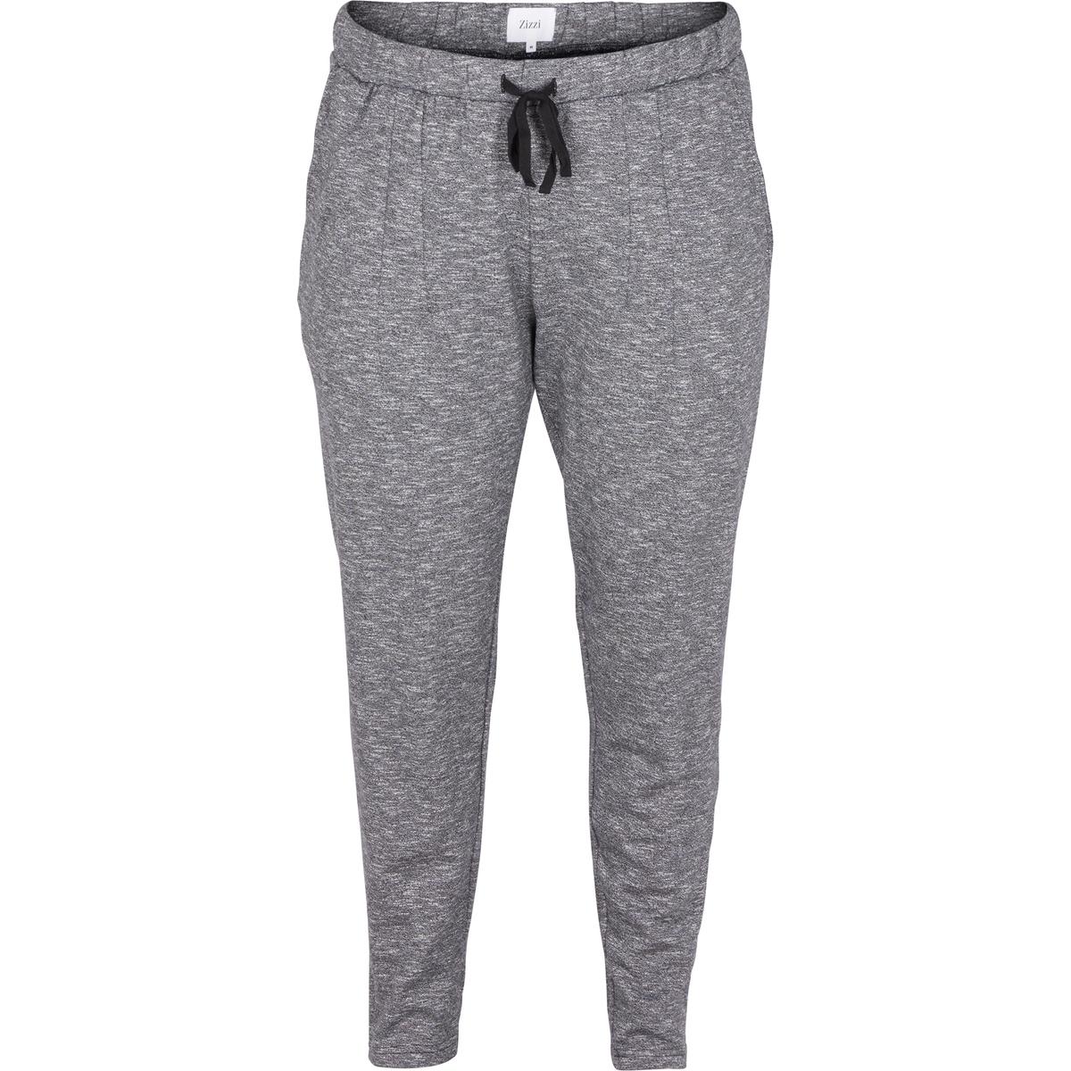 Брюки из струящейся тканиБрюки из струящейся ткани ZIZZI. Красивые брюки из качественной ткани . Свободный покрой, шнурок на поясе . С карманом с каждой стороны, 100% хлопок, очень удобные при носке .<br><br>Цвет: серый