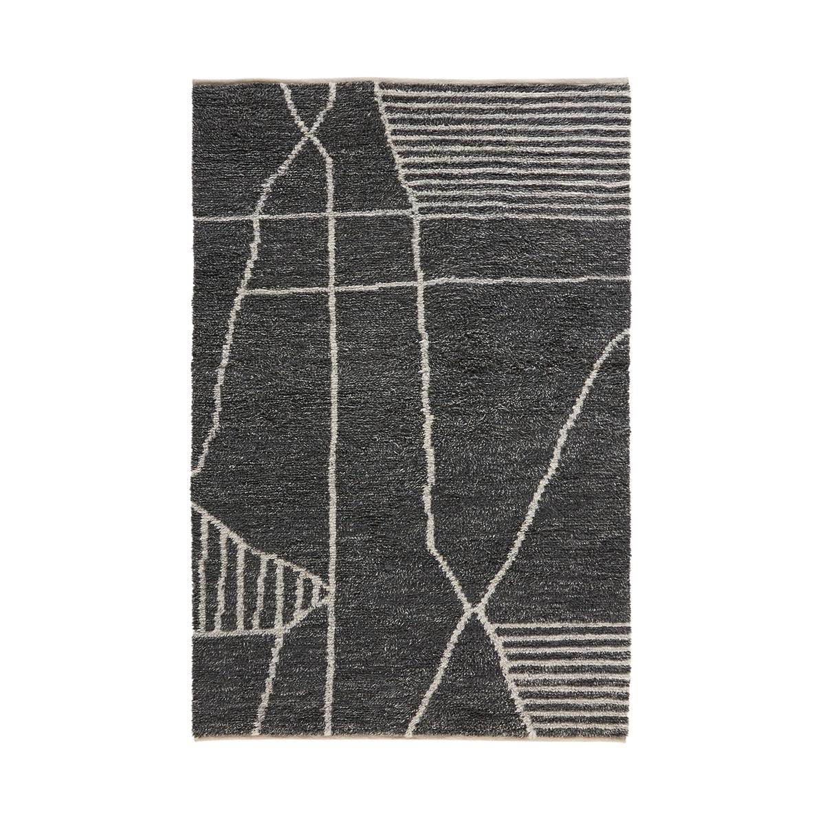 Ковер La Redoute Берберский из шерсти Elva 120 x 170 см серый ковер la redoute из шерсти 120 x 170 см розовый