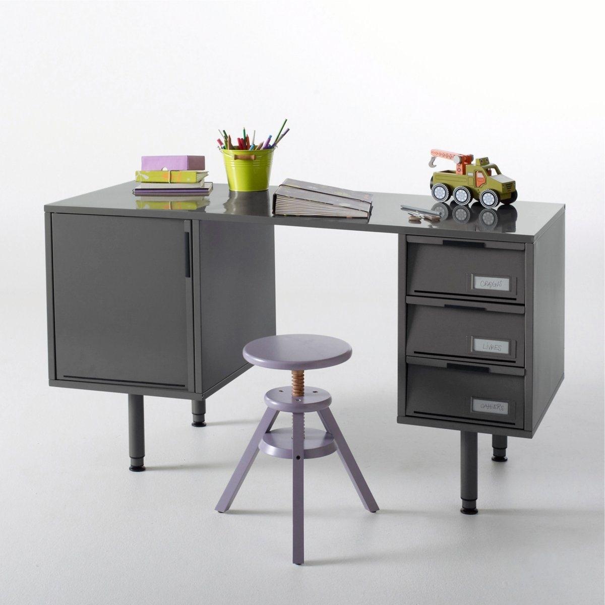 Стол письменный из металла с покрытием лаком, Hiba