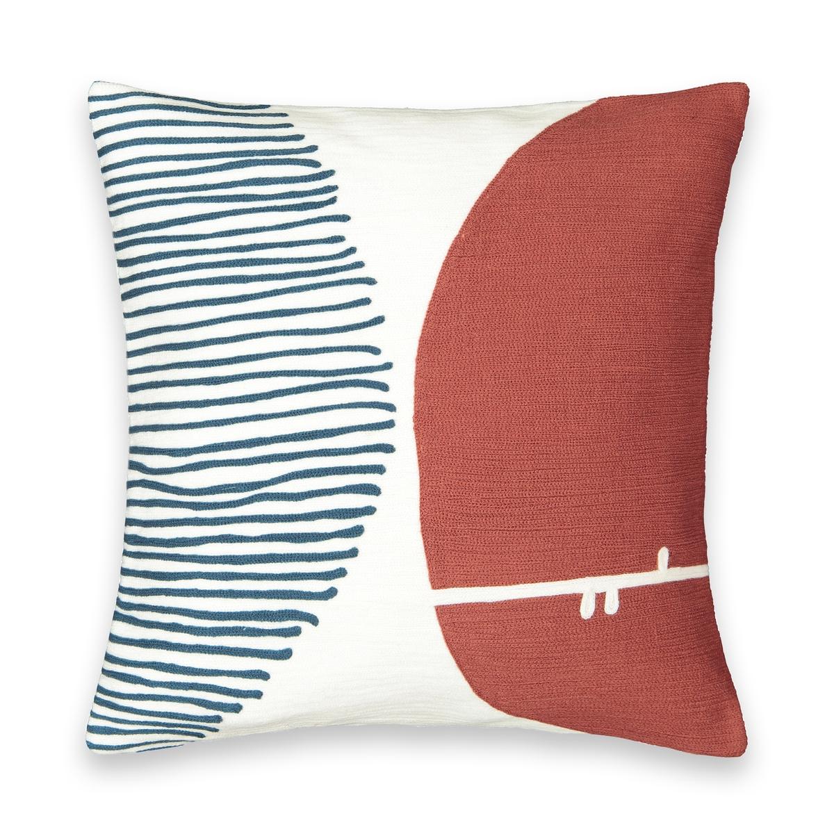 Чехол La Redoute На подушку с вышивкой Mihna 45 x 45 см синий чехол la redoute для подушки eppaloc 45 x 45 см оранжевый