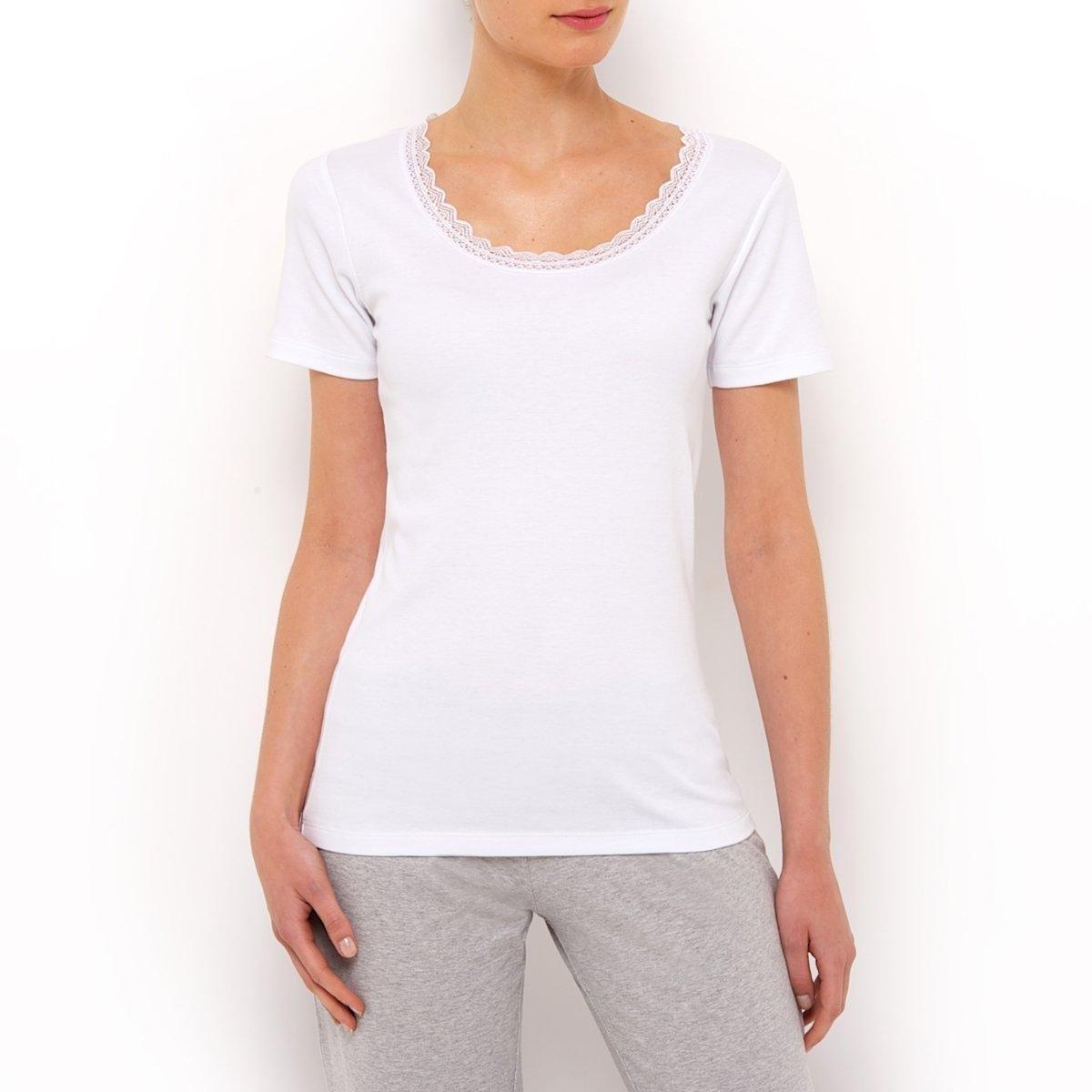 2 рубашки с короткими рукавами2 рубашки из 100% хлопка. Короткие рукава. Вырез украшен кружевом.<br><br>Цвет: белый,черный + черный<br>Размер: 38/40 (FR) - 44/46 (RUS).38/40 (FR) - 44/46 (RUS).42/44 (FR) - 48/50 (RUS)