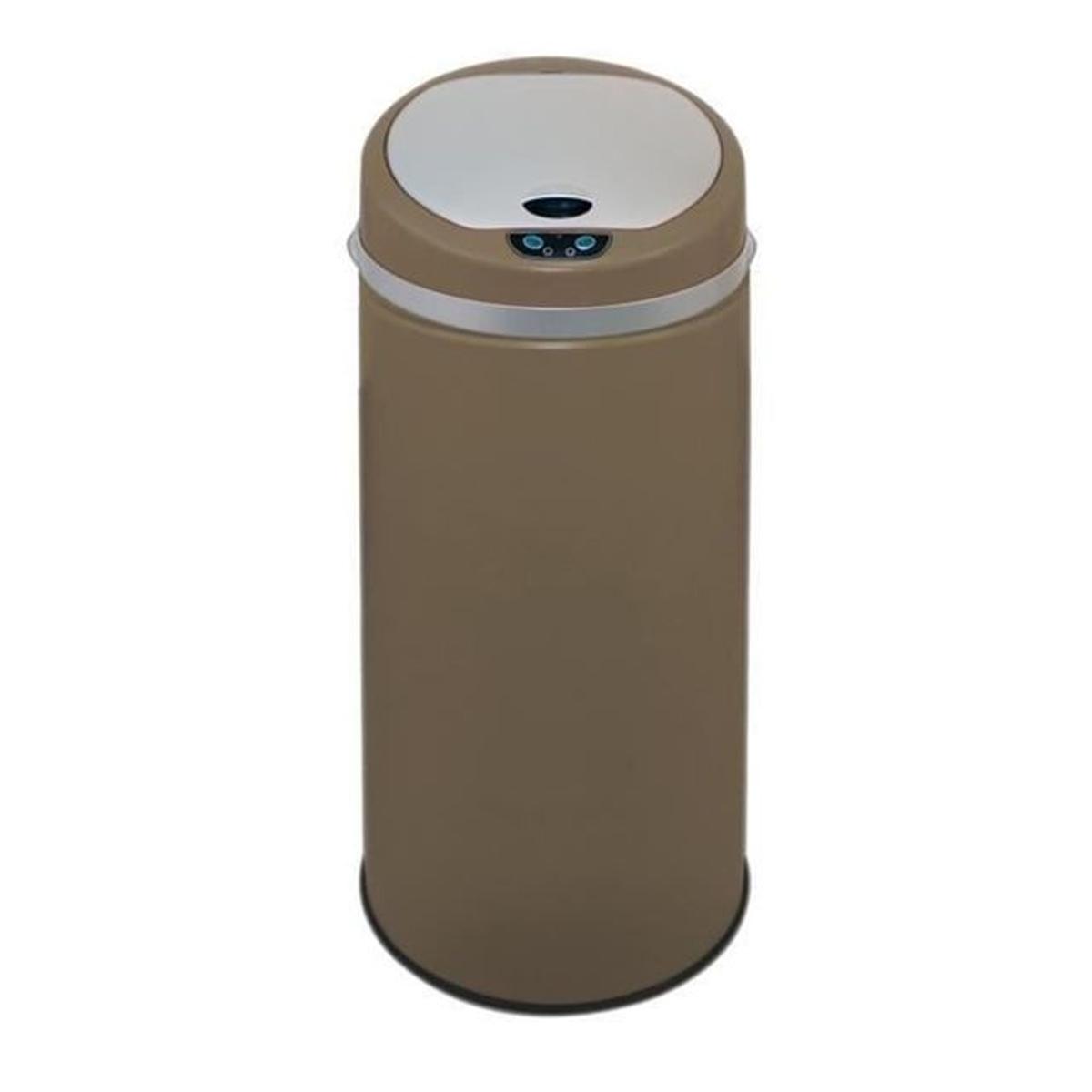 Poubelle 27l fjord taupe vendu par but 1179980 - Kitchen move poubelle de cuisine automatique 42 l ...