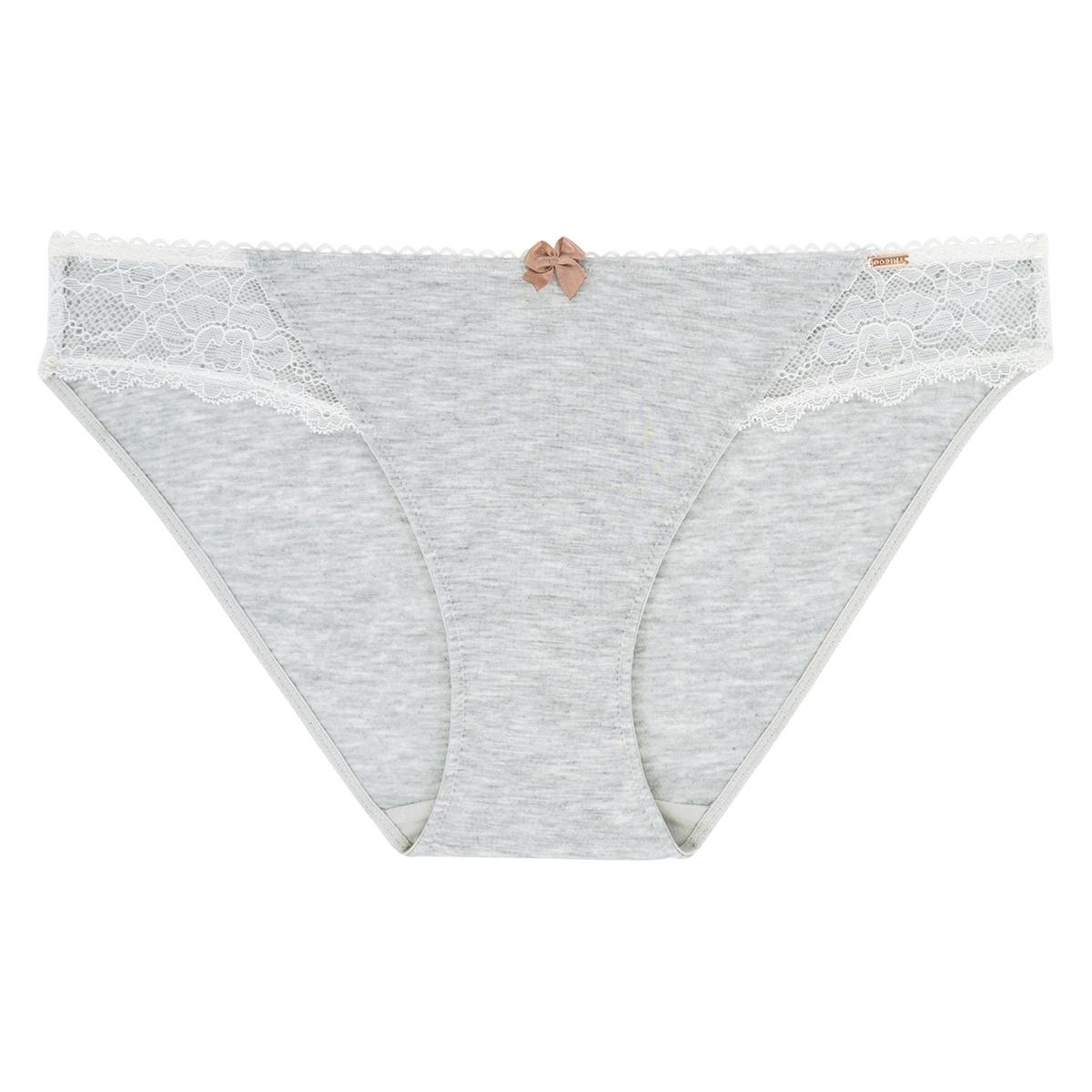 Трусы-слипы из модала со вставкой из кружева, Moly пижама из майки и шортов из модала и кружева romy