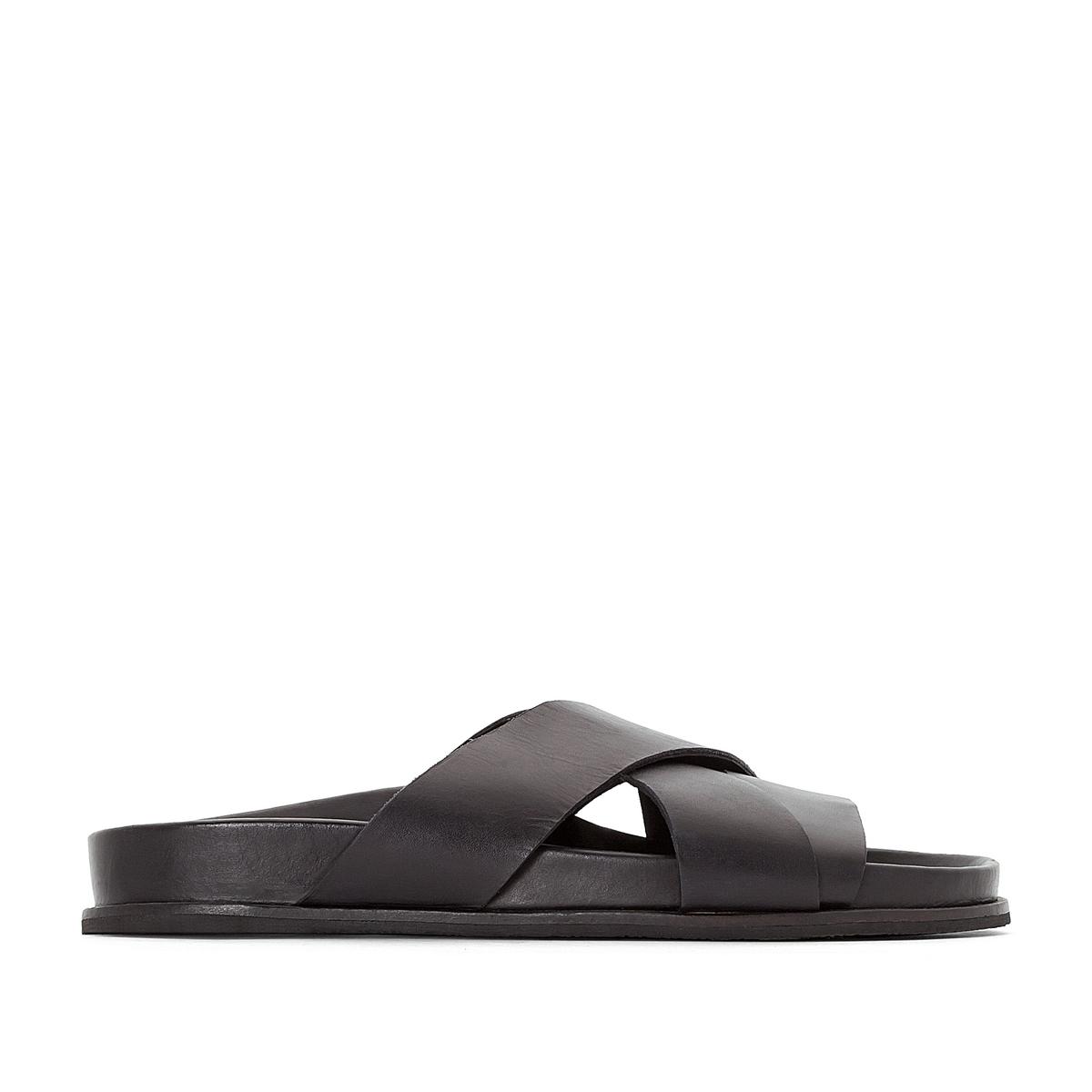 Туфли без задника кожаные SANDOLA