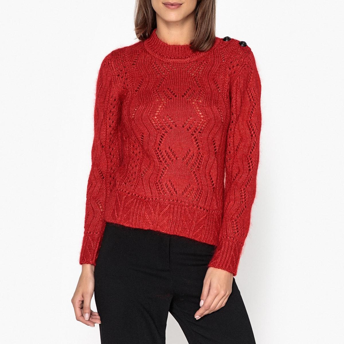 Пуловер с круглым вырезом NUMA пуловер с круглым вырезом из хлопка и льна