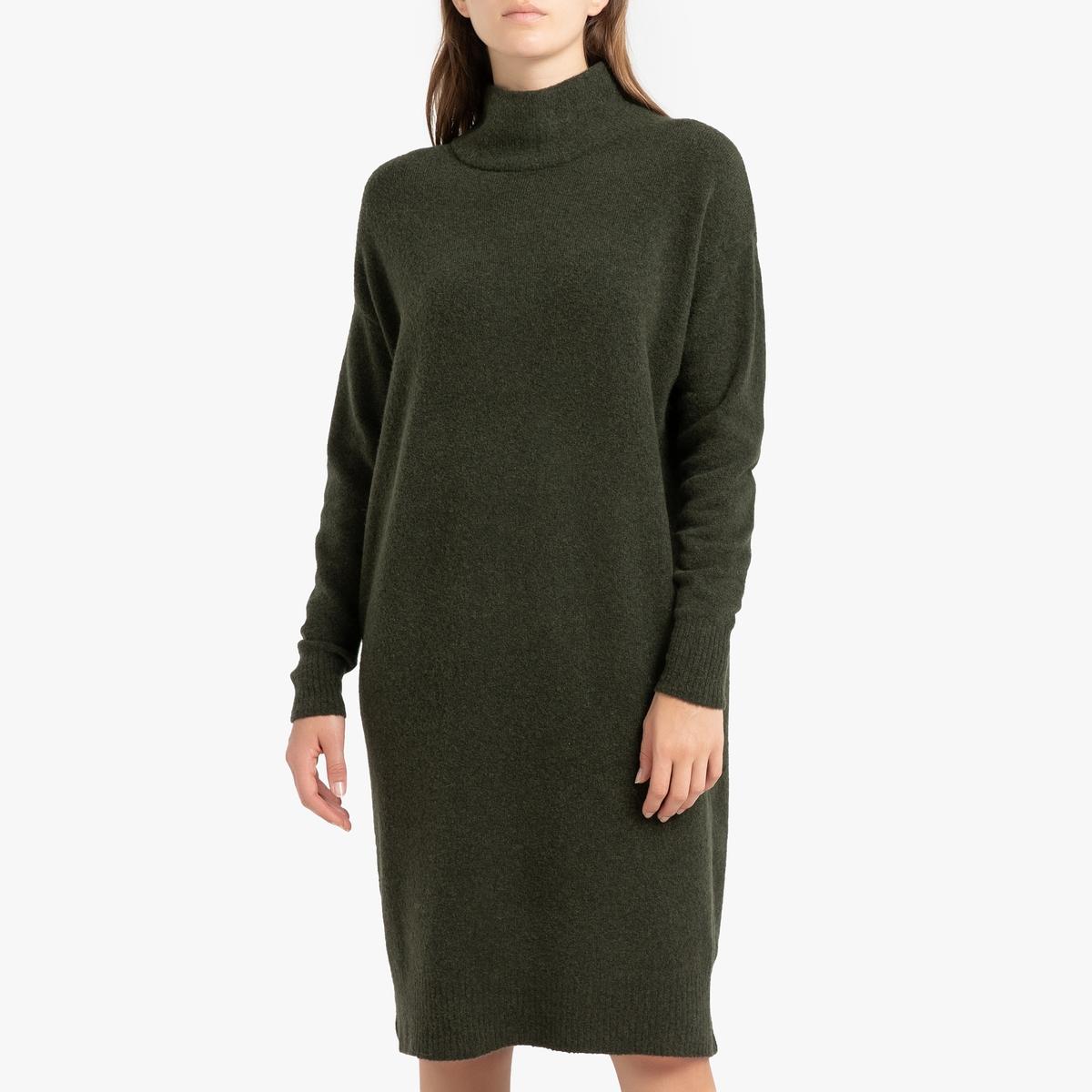 Платье-пуловер La Redoute Длинное с длинными рукавами DAMSVILLE M/L зеленый женское платье sv005485 s m l