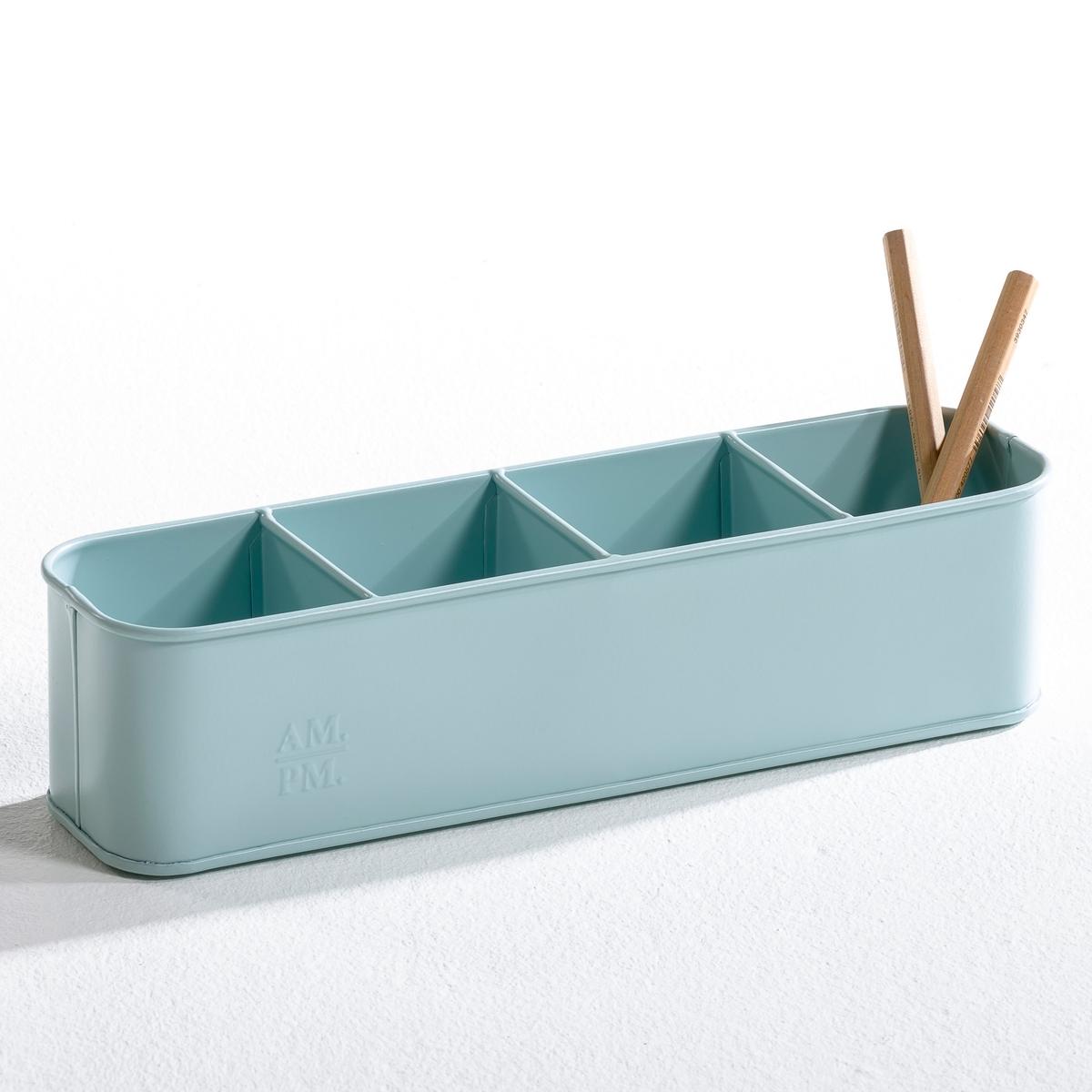 Карандашница ArregloХарактеристики карандашницы  :- 4 отделения .- Можно использовать также как монетницу, кашпо или для хранения столовых приборов   - Размеры карандашницы :  .32 x .8 x .8 см..<br><br>Цвет: белый,зелено-голубой матовый,серый<br>Размер: единый размер