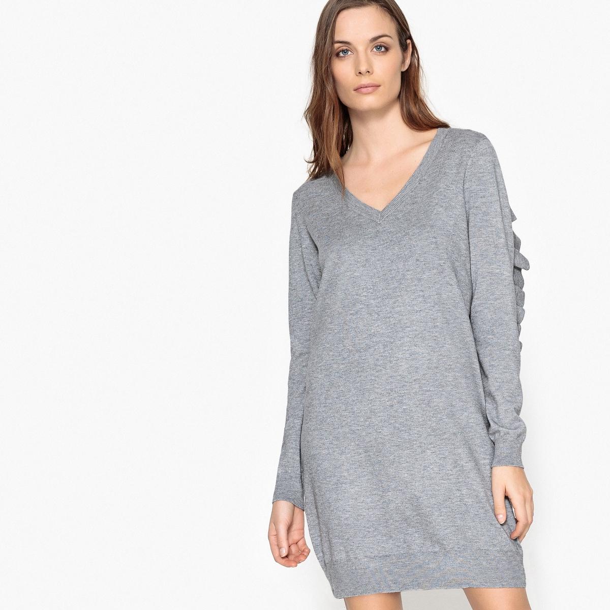 Платье-миди прямое однотонное, длина 3/4 от La Redoute