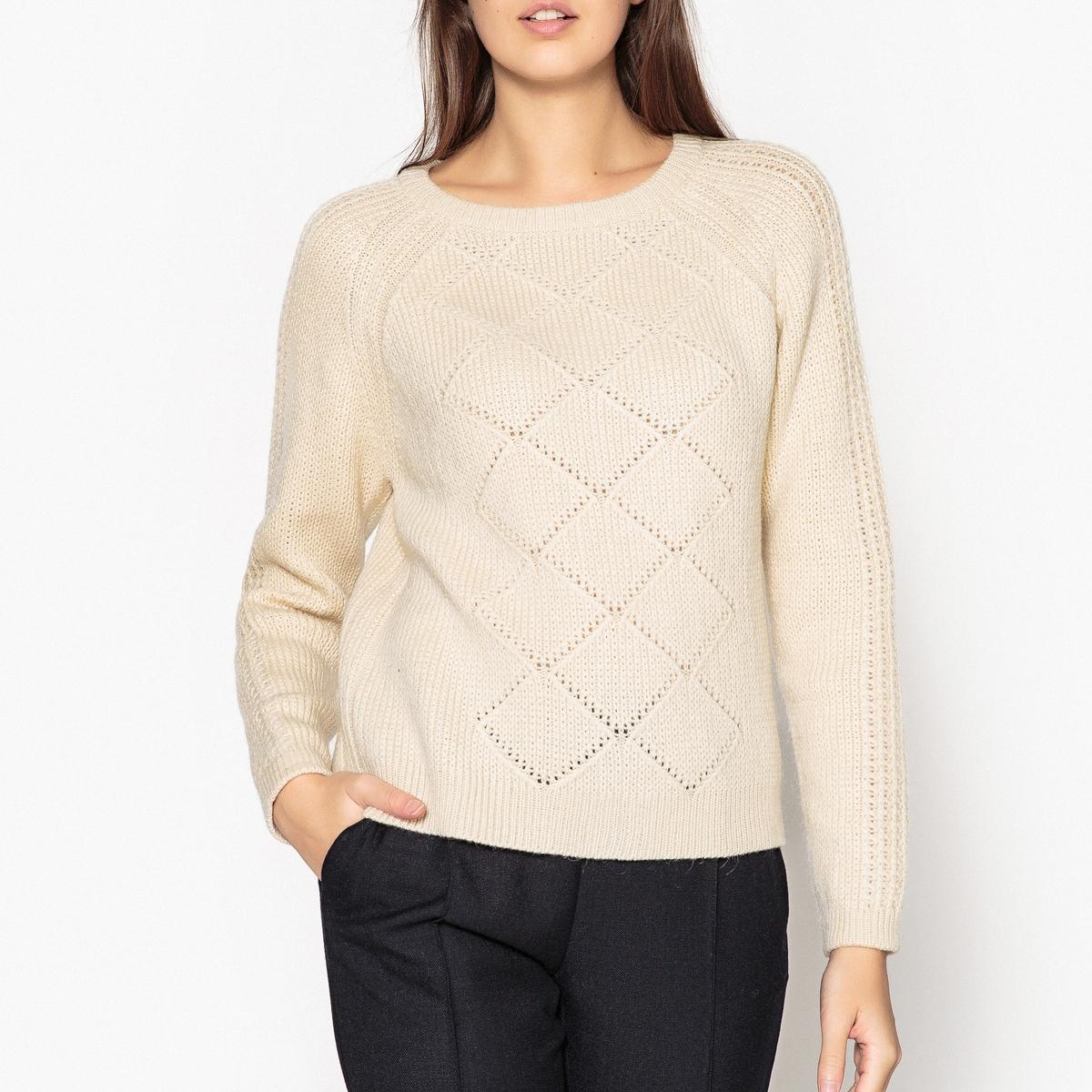 Пуловер из оригинального трикотажа с пуговицами сзади MALANG