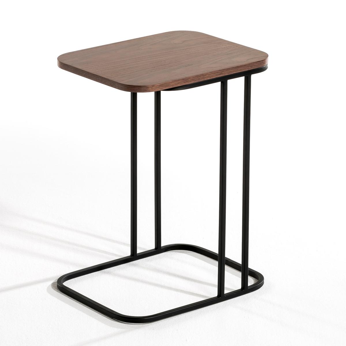 Столик Trebor, по дизайну Э .ГаллинаЭтот диванный (или сервировочный) столик входит в кочующие, многофункциональные элементы мебели и сочетается с диванами Harold, которые продаются на нашем сайте .Характеристики: :- Каркас из металла с эпоксидным покрытием - Столешница из МДФ шпона дуба с ПУ-лакировкой  Размеры :-.40 x.32 x.54 см.Размеры и вес ящика :.47 x .61 x .39 см, 8 кг.Этот артикул получил знак качества VIA 2015 (валоризация инноваций в меблировке).<br><br>Цвет: ореховый<br>Размер: единый размер