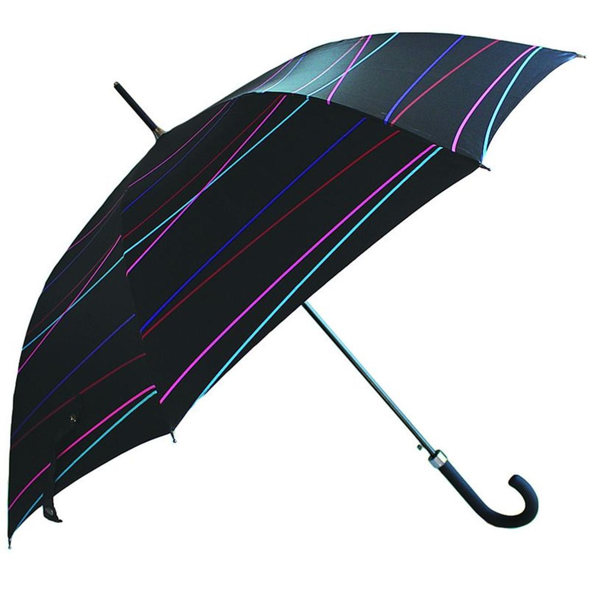 Parapluie NEYRAT Autun - Motif graphique ligne - Noir