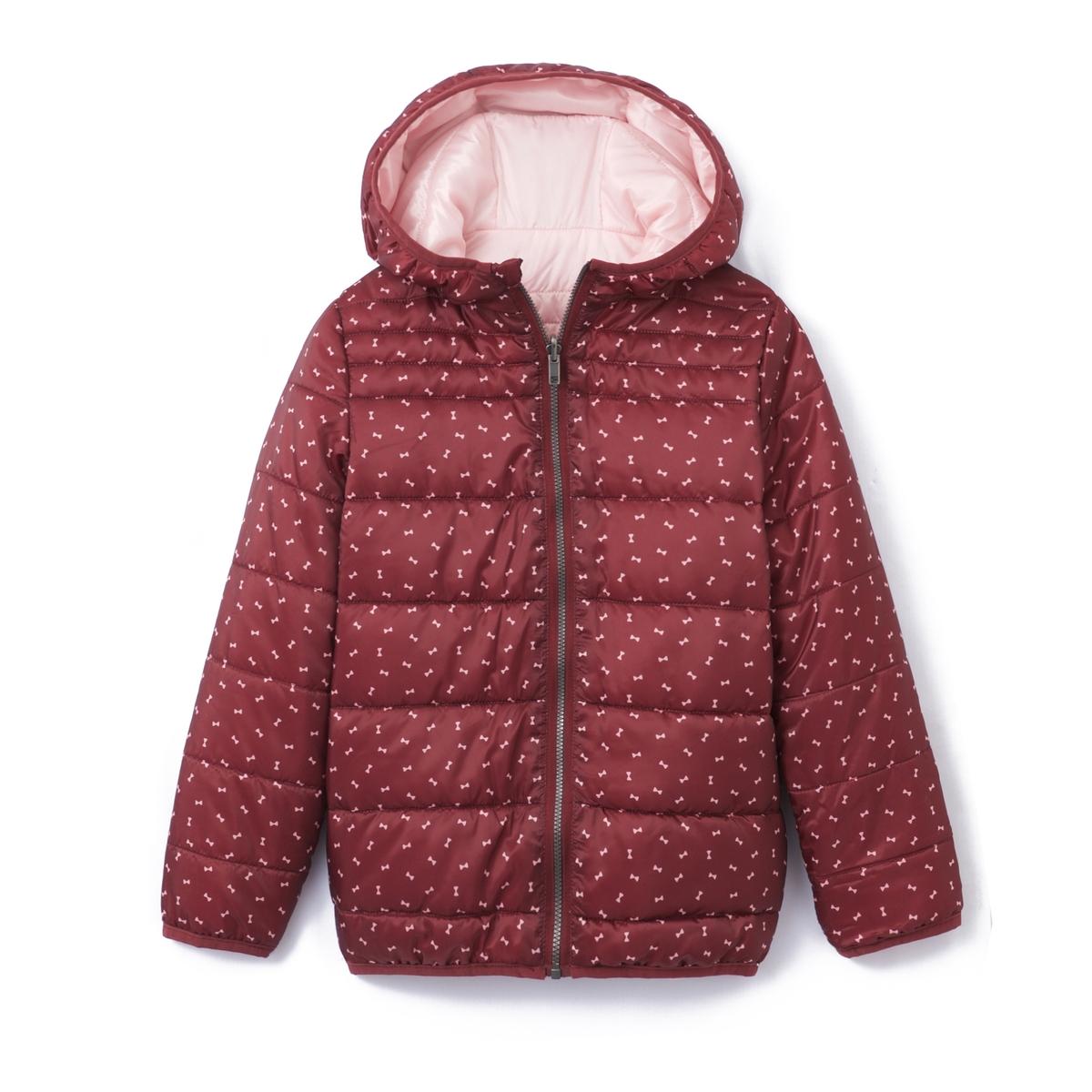 Куртка стеганая двусторонняя с капюшоном, 3-12 летСостав и описание :    Материал         100% полиэстер Наполнитель    100% полиэстер  Уход : Машинная стирка при 30 °C с вещами схожих цветов. Машинная сушка запрещена. Не гладить.<br><br>Цвет: розовый/рисунок