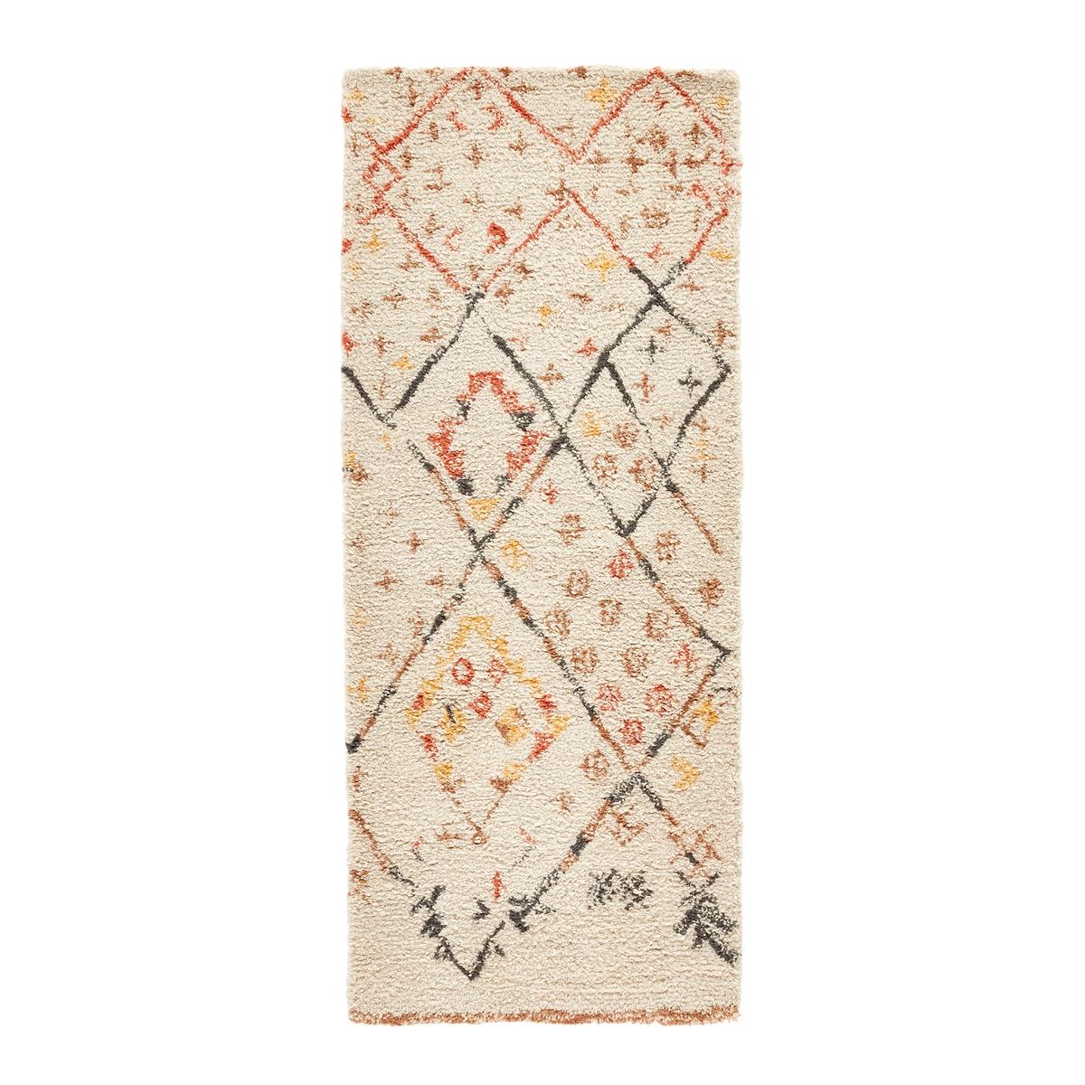 Ковровая La Redoute Дорожка для коридора в берберском стиле из шерсти Ashwin 80 x 200 см бежевый ковер la redoute в берберском стиле из шерсти tekouma 120 x 180 см бежевый