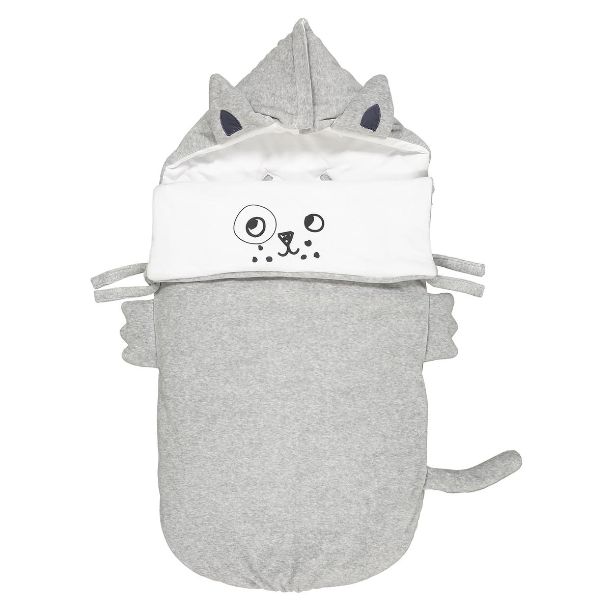 Конверт с капюшоном кошка - один размер