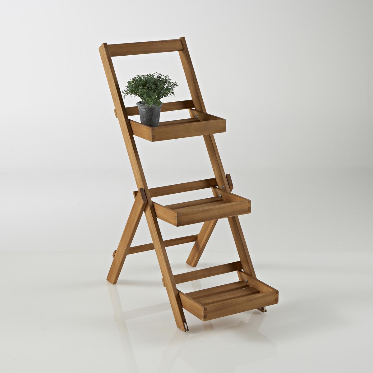 Этажерка 3-уровневая для сада из акации3-уровневая этажерка для сада из акации. Незаменима в саду или на террасе, на этой 3-уровневой этажерке легко можно расположить растения и предметы декора ! Описание этажерки для сада :Цвет тикового дерева3 уровняПоставляется в разобранном виде.Характеристики этажерки для сада :Из акации Другие модели этой коллекции вы можете найти на сайте laredoute.ruРазмеры этажерки для сада :Общие размеры :Длина : 35 смВысота : 85 смГлубина : 65 смПолезные размеры : Этажерка : Ш.22,5 x В.4,5 x Г.25,8 смВес: 4 кгДоставка:  Возможна доставка до квартиры по предварительной договоренности! Внимание! Убедитесь, что посылку возможно доставить в дом, учитывая ее габариты.<br><br>Цвет: акация